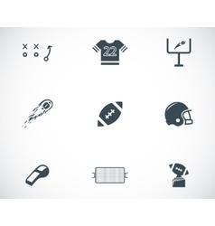 black football icons set vector image vector image