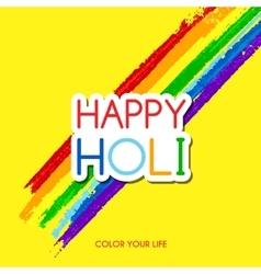 Happy Holi greeting card vector image