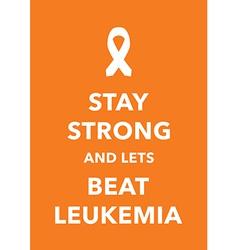 leukemia poster vector image vector image