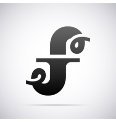 logo for letter F Design template vector image vector image
