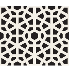 Seamless black and white hexagon lines vector
