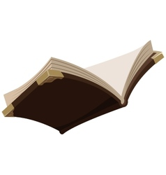 Open magic old book vector image