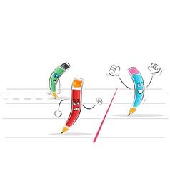 pencil race vector image vector image