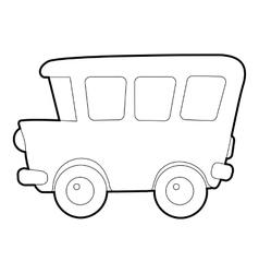 School bus icon isometric 3d style vector image