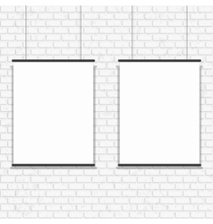 Blank poster on seamless brick wall vector image vector image