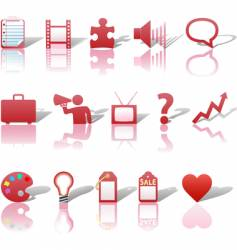 communications media icons vector image vector image