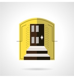 Entrance of house flat color icon vector image