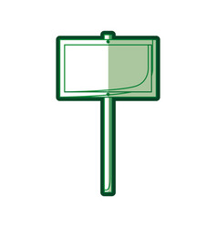 Green silhouette of wooden fence in stick vector