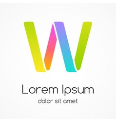 Logo letter W company design template vector image vector image