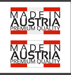 made in austria icon premium quality sticker vector image vector image