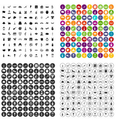 100 wine icons set variant vector
