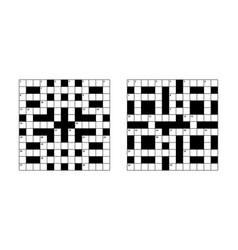 13x13 crossword puzzle empty vector