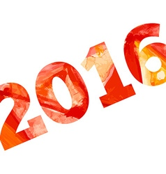 2016 with aquarelle effect Happy new year vector