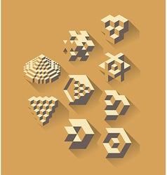 3d isometric symbols vector