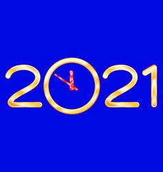 Abstract 2021 clock vector
