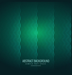 Abstract wavy lines green background vector