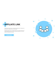affiliate link icon banner outline template vector image