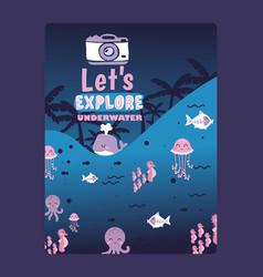 animals undersea world vector image
