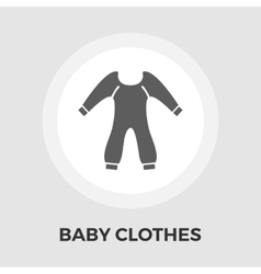 Baby Clothes Flat Icon vector image
