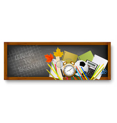 back to school banners with supplies vector image