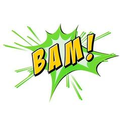 Bam flash on white vector