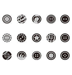 Black Clothing Button icons vector