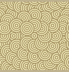 brown circle seamless pattern vector image