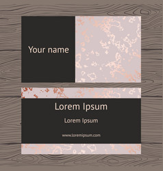 business cards with imitation rose vector image