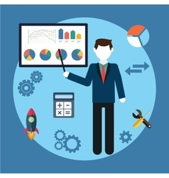 Business concept man vector