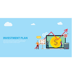 business plan investment with team working vector image