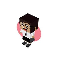 Business woman cartoon character vector