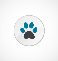 Cat footprint icon 2 colored vector