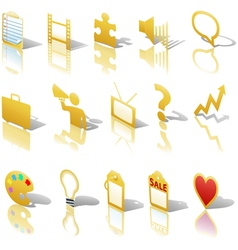 communications media business icons vector image