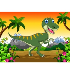 Cute dinosaur cartoon for your design vector
