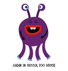 Cute monster print for t-shirt vector