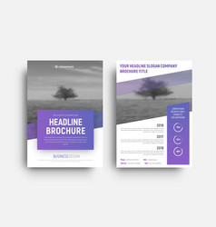 Design white modern brochure with diagonal place vector