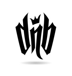 dnb lettering for drum and bass fans vector image
