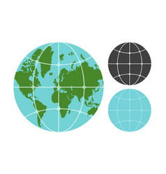 earth planet icons vector image