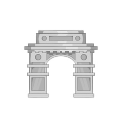 Eastern arch icon black monochrome style vector