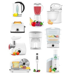 Electrical appliances for the kitchen 02 vector