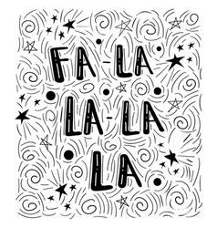 Fa-la-la - handdrawn handwritten vector