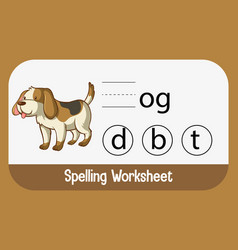 find missing letter with dog vector image