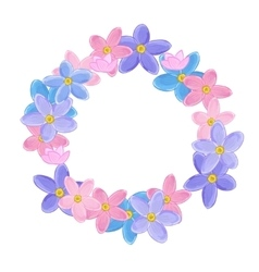 Floral wreath made of forget-me-not flowers vector image