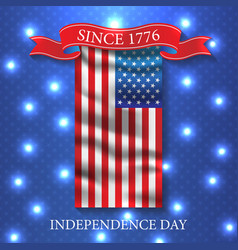 fourth of july independence day usa patriotic vector image