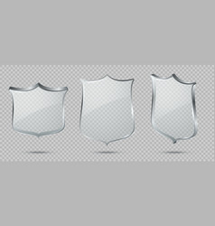 glass shield blank transparent glass panel vector image