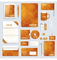 Golden set layout of corporate identity vector image