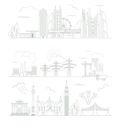 Great city map creator Outline version House vector