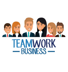 Group of businespeople teamwork vector