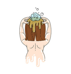 hair washing vector image