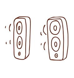 Hand Drawn Speakers vector